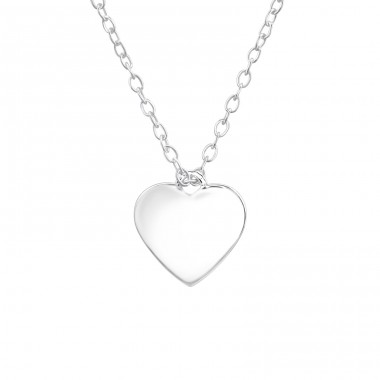 Heart - 925 Sterling Silver Necklace without stones A4S36498