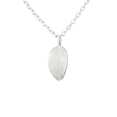 Leaf - 925 Sterling Silver Necklace without stones A4S36499