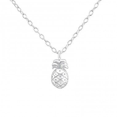 Pineapple - 925 Sterling Silver Necklace without stones A4S36502