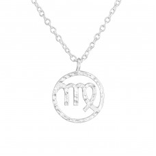 Virgo Zodiac Sign - 925 Sterling Silver Necklace without stones A4S36710