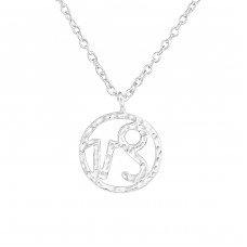 Capricorn Zodiac Sign - 925 Sterling Silver Necklace without stones A4S36712
