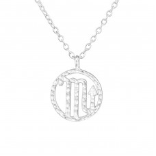 Scorpio Zodiac Sign - 925 Sterling Silver Necklace without stones A4S36715