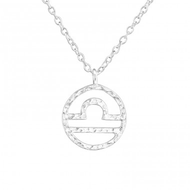 Libra Zodiac Sign - 925 Sterling Silver Necklace without stones A4S36716