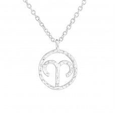 Aries Zodiac Sign - 925 Sterling Silver Necklace without stones A4S36718