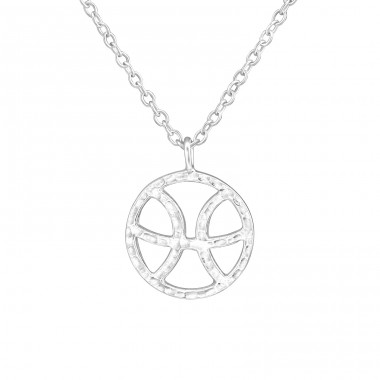 Pisces Zodiac Sign - 925 Sterling Silver Necklace without stones A4S36719