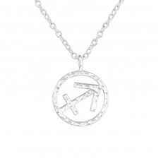 Sagittarius Zodiac Sign - 925 Sterling Silver Necklace without stones A4S36720