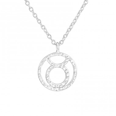 Taurus Zodiac Sign - 925 Sterling Silver Necklace without stones A4S36721