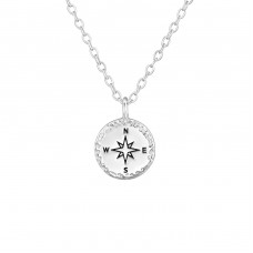 Compass - 925 Sterling Silver Necklace without stones A4S36722
