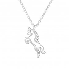 Unicorn - 925 Sterling Silver Necklace without stones A4S36723