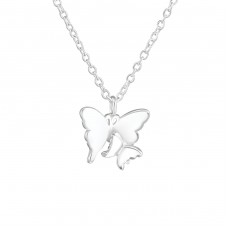 Butterfly - 925 Sterling Silver Necklace without stones A4S36725