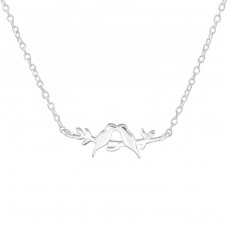 Love Birds - 925 Sterling Silver Necklace without stones A4S36727