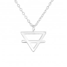 Triangle - 925 Sterling Silver Necklace without stones A4S36729