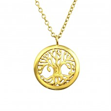 Tree Of Life - 925 Sterling Silver Necklace without stones A4S36731