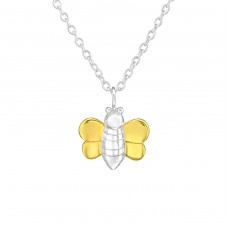 Bee - 925 Sterling Silver Necklace without stones A4S36732
