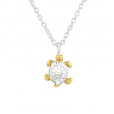 Turtle - 925 Sterling Silver Necklace without stones A4S36733