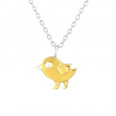 Bird - 925 Sterling Silver Necklace without stones A4S36734