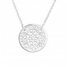 Filigree - 925 Sterling Silver Necklace without stones A4S37385