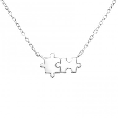 Puzzle - 925 Sterling Silver Necklace without stones A4S37388