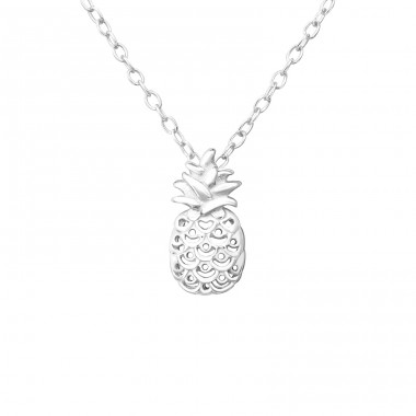 Pineapple - 925 Sterling Silver Necklace without stones A4S37611