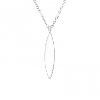 Marquise - 925 Sterling Silver Necklace without stones A4S37612