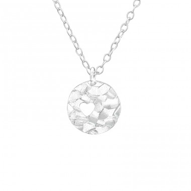 Round - 925 Sterling Silver Necklace without stones A4S37615