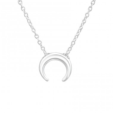 Moon - 925 Sterling Silver Necklace without stones A4S37616