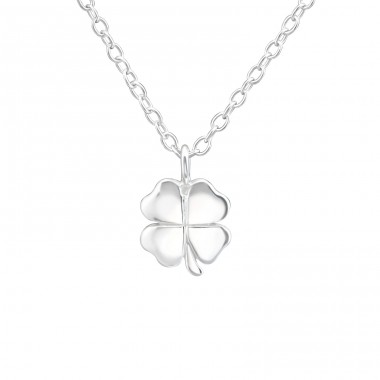 Lucky Clover - 925 Sterling Silver Necklace without stones A4S37626