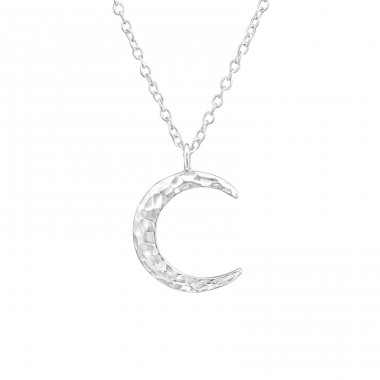 Moon - 925 Sterling Silver Necklace without stones A4S37673
