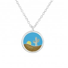 Deserts - 925 Sterling Silver Necklace without stones A4S37890