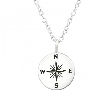 Compass - 925 Sterling Silver Necklace without stones A4S37900