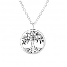 Tree Of Life - 925 Sterling Silver Necklace without stones A4S37901