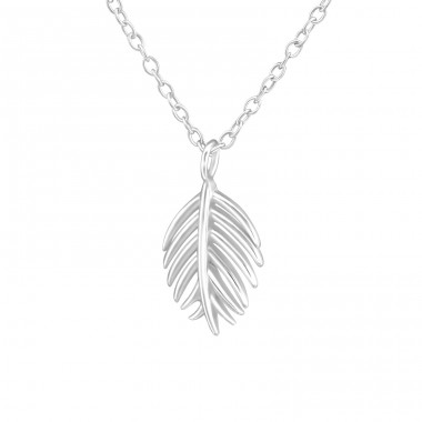 Leaf - 925 Sterling Silver Necklace without stones A4S37903