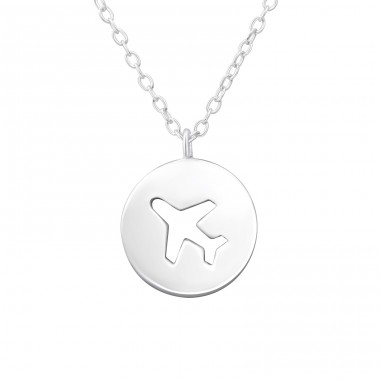 Plane - 925 Sterling Silver Necklace without stones A4S38055