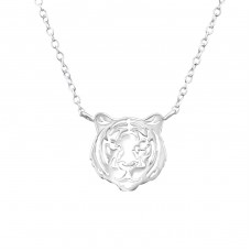 Tiger - 925 Sterling Silver Necklace without stones A4S38182