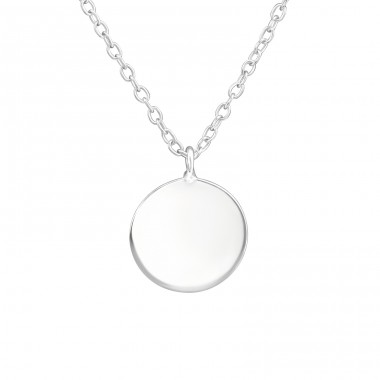 Round - 925 Sterling Silver Necklace without stones A4S38276