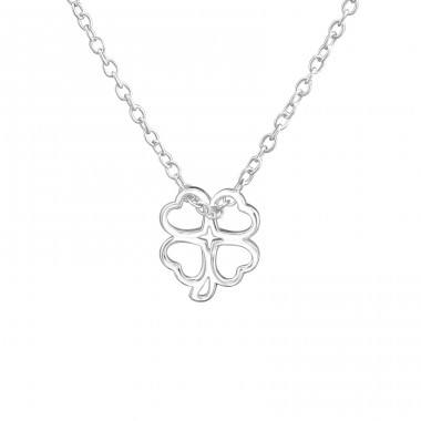 Lucky Clover - 925 Sterling Silver Necklace without stones A4S38466