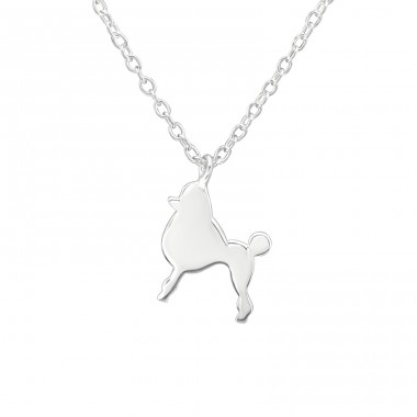 Dog - 925 Sterling Silver Necklace without stones A4S38475