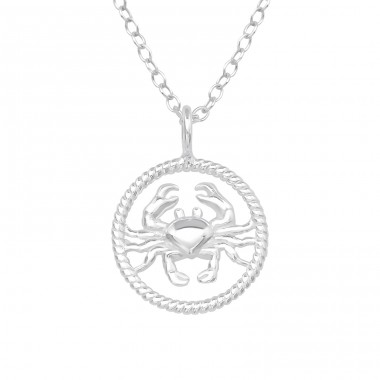 Cancer Zodiac Sign - 925 Sterling Silver Necklace without stones A4S38787