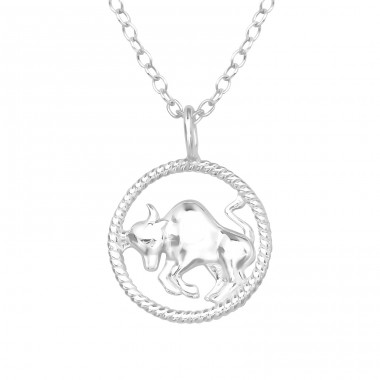 Taurus Zodiac Sign - 925 Sterling Silver Necklace without stones A4S38789