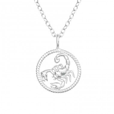 Scorpio Zodiac Sign - 925 Sterling Silver Necklace without stones A4S38790