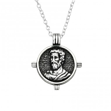 Jesus - 925 Sterling Silver Necklace without stones A4S38792