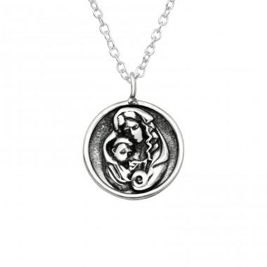 Mary - 925 Sterling Silver Necklace without stones A4S38793