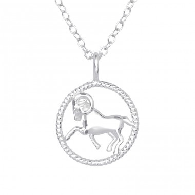 Aries Zodiac Sign - 925 Sterling Silver Necklace without stones A4S38797