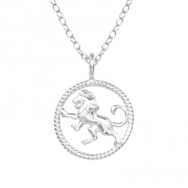 Leo Zodiac Sign - 925 Sterling Silver Necklace without stones A4S38799