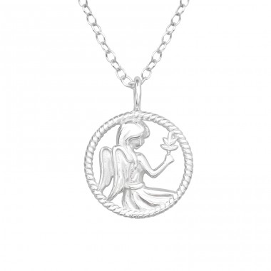 Virgo Zodiac Sign - 925 Sterling Silver Necklace without stones A4S38802