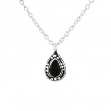 Pear - 925 Sterling Silver Necklace without stones A4S39084