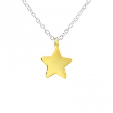 Star - 925 Sterling Silver Necklace without stones A4S39174