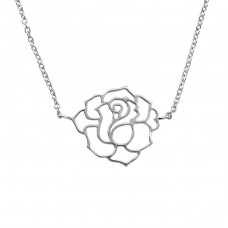 Rose - 925 Sterling Silver Necklace without stones A4S39180