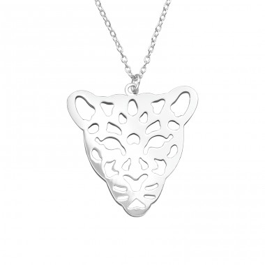 Leopard - 925 Sterling Silver Necklace without stones A4S39214