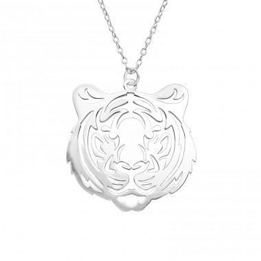 Tiger - 925 Sterling Silver Necklace without stones A4S39215